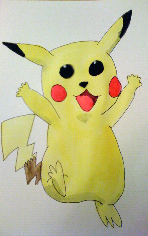 Pikachu watercolour