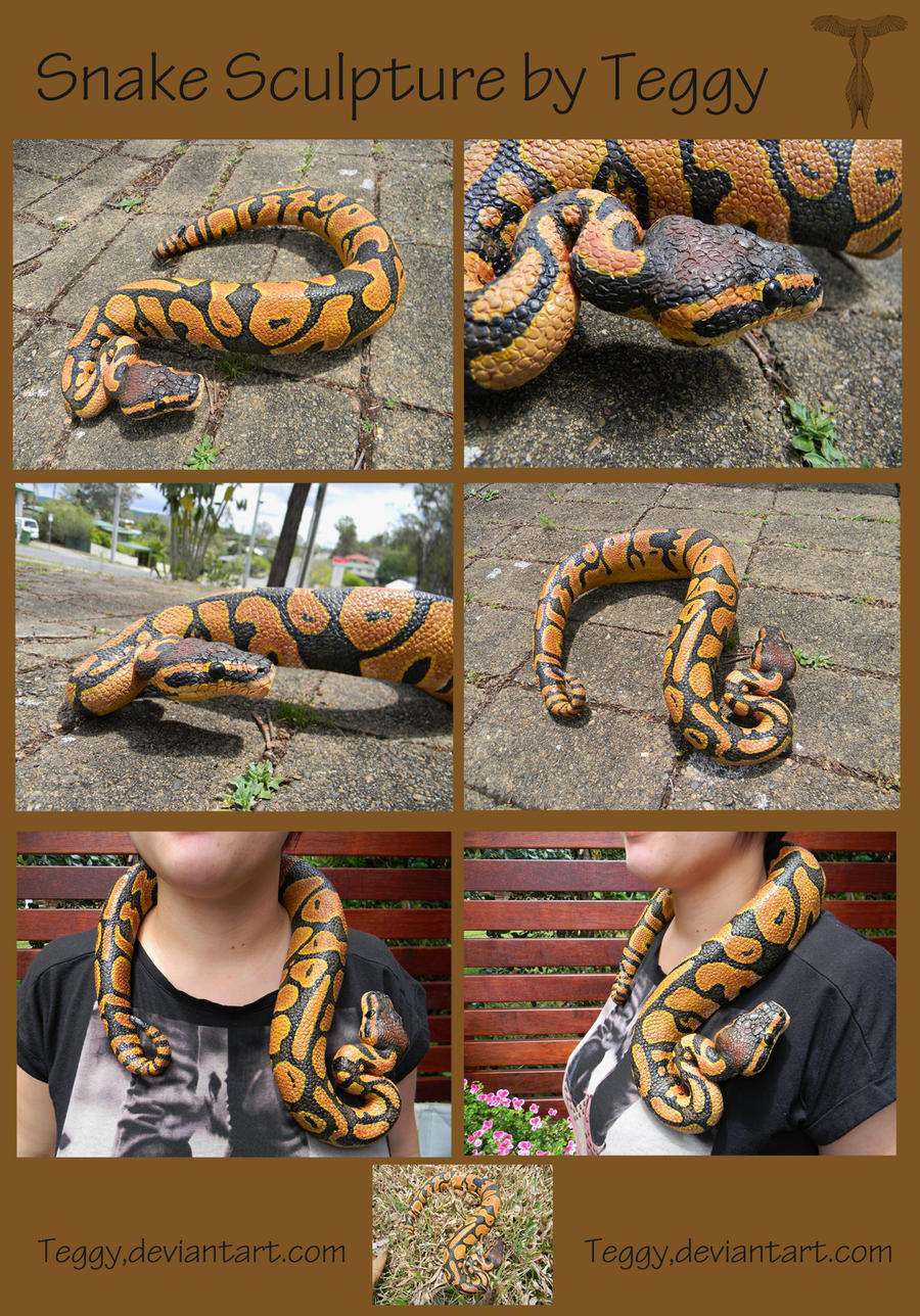 Snake Sculpture by Teggy