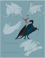 Morpheus Sketch Page by Teggy