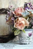 My handmade clay flowers. by V-eva