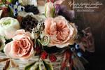 My handmade polymer clay flowers. by V-eva
