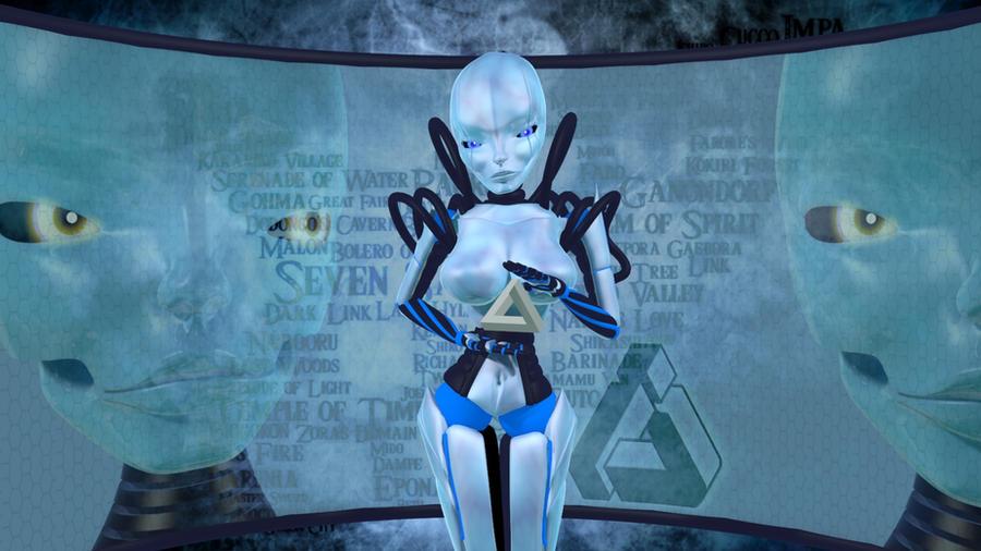 3d Robot Girl by alienkilla