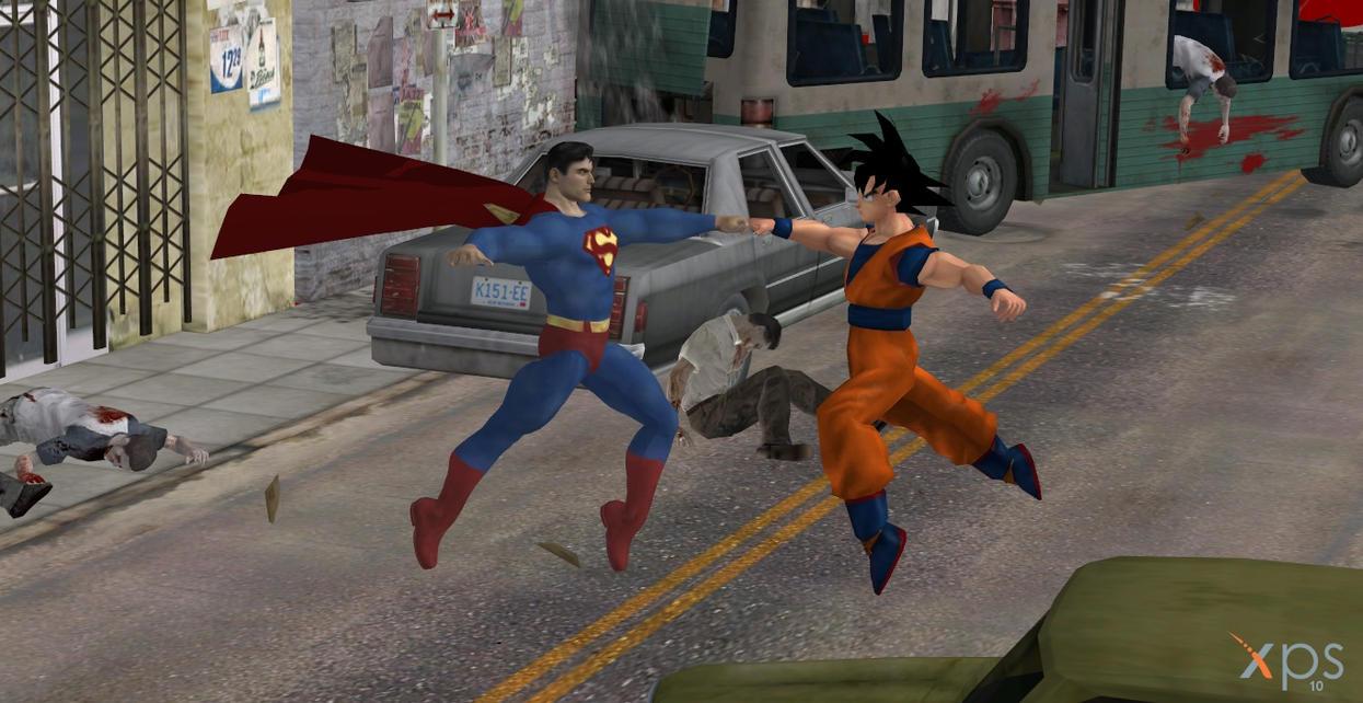 Goku Vs. Superman by calibur222 on DeviantArt