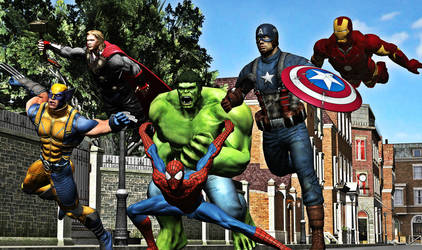 Marvel Ultimate Alliance by calibur222