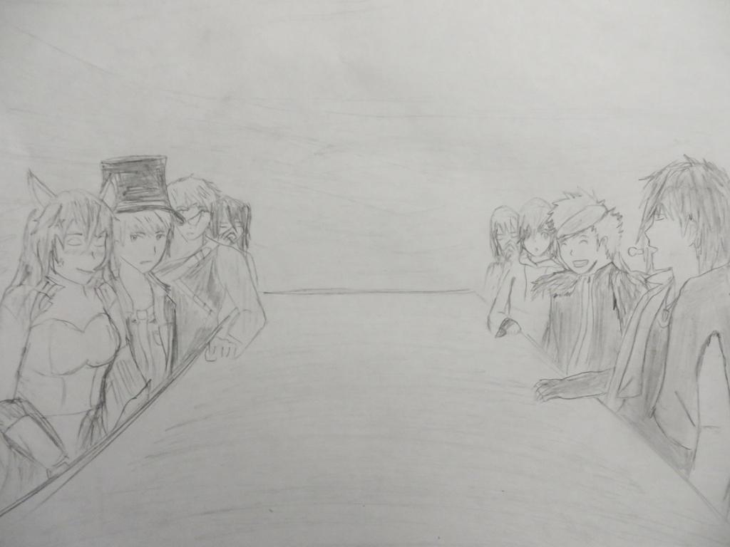 Team PYRH and Team CIEL Socializing by calibur222