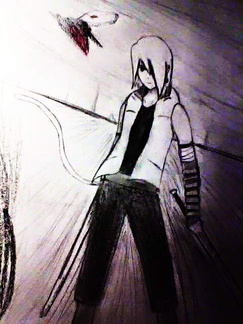 RWBY OC Drawing: Red on Black and White by calibur222