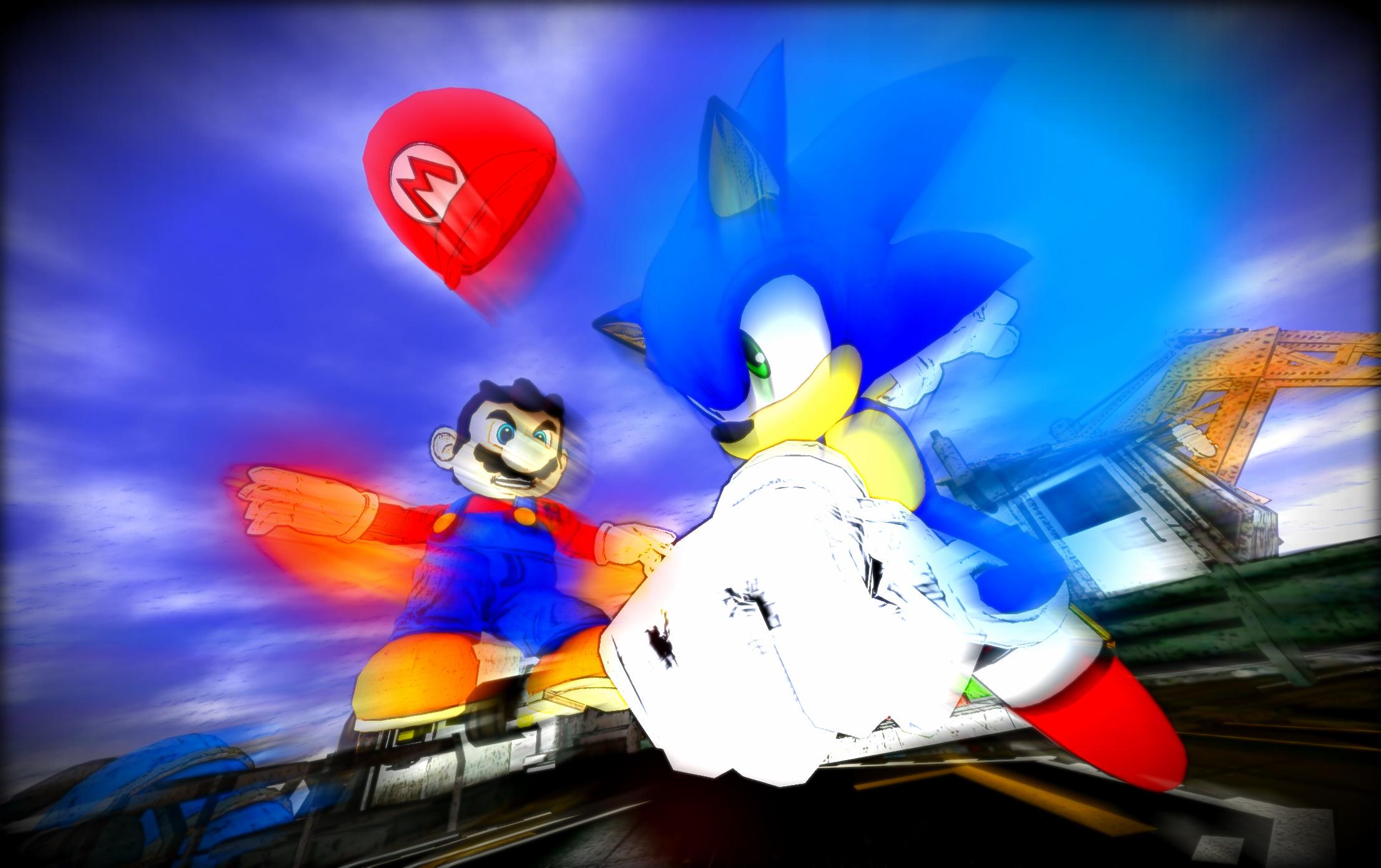 Death Battle Mario Vs Sonic By Calibur222 On Deviantart