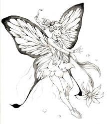 Butterfly girl by Marcianek