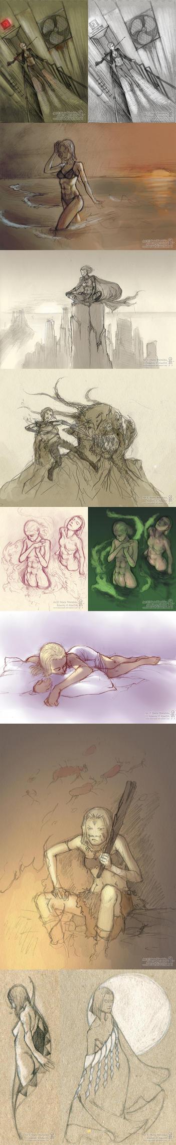 Alacrity sketchdump2 by Marcianek
