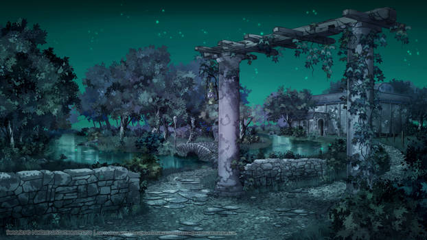 SoulSet: Backyard at night by Marcianek