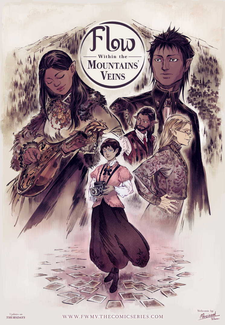 Flow Within the Mountains' Veins poster