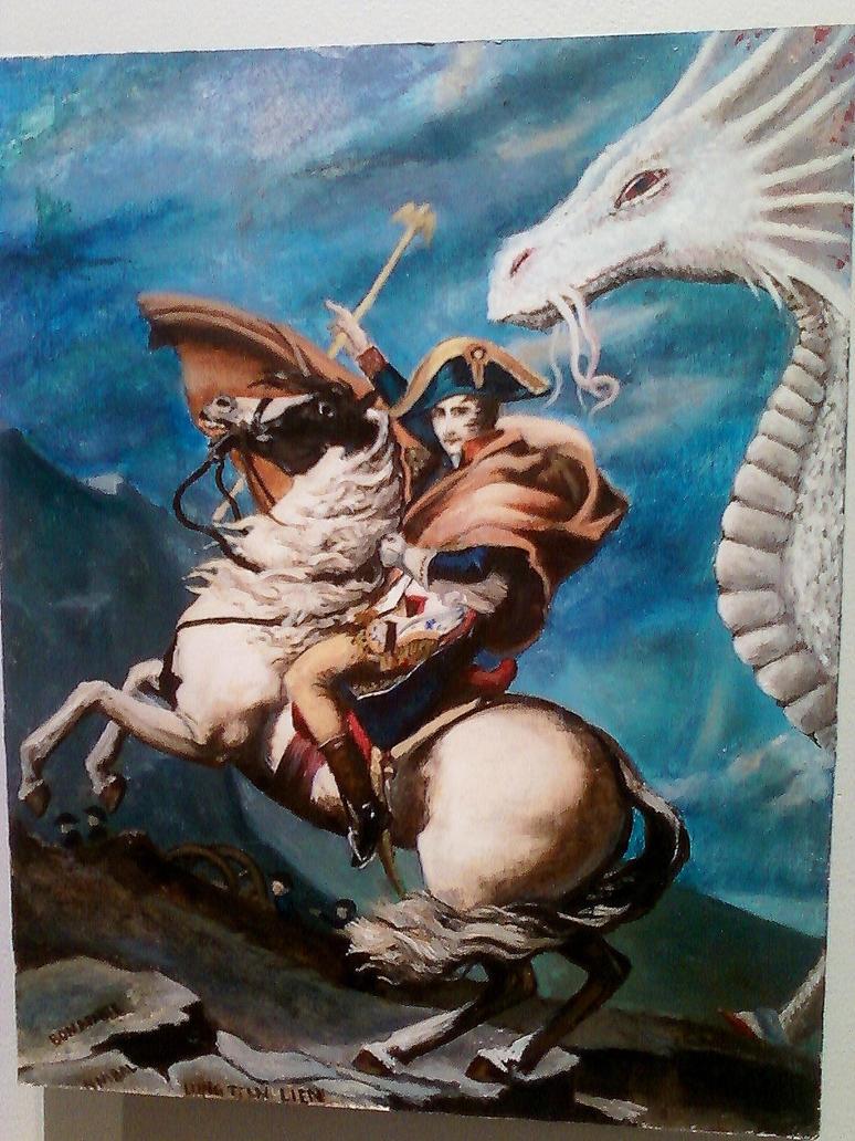 Napoleon crossing the alps parody