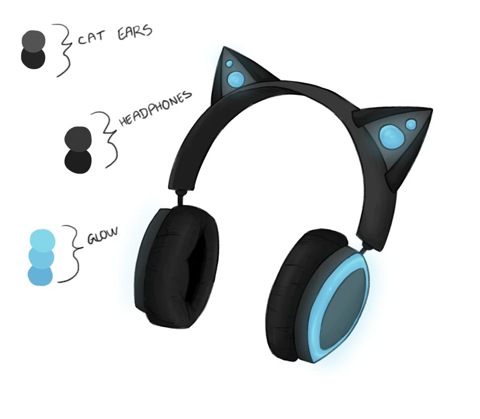 Neko headphones *request* by Redkitty34