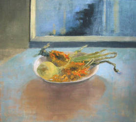 Still life with an onion