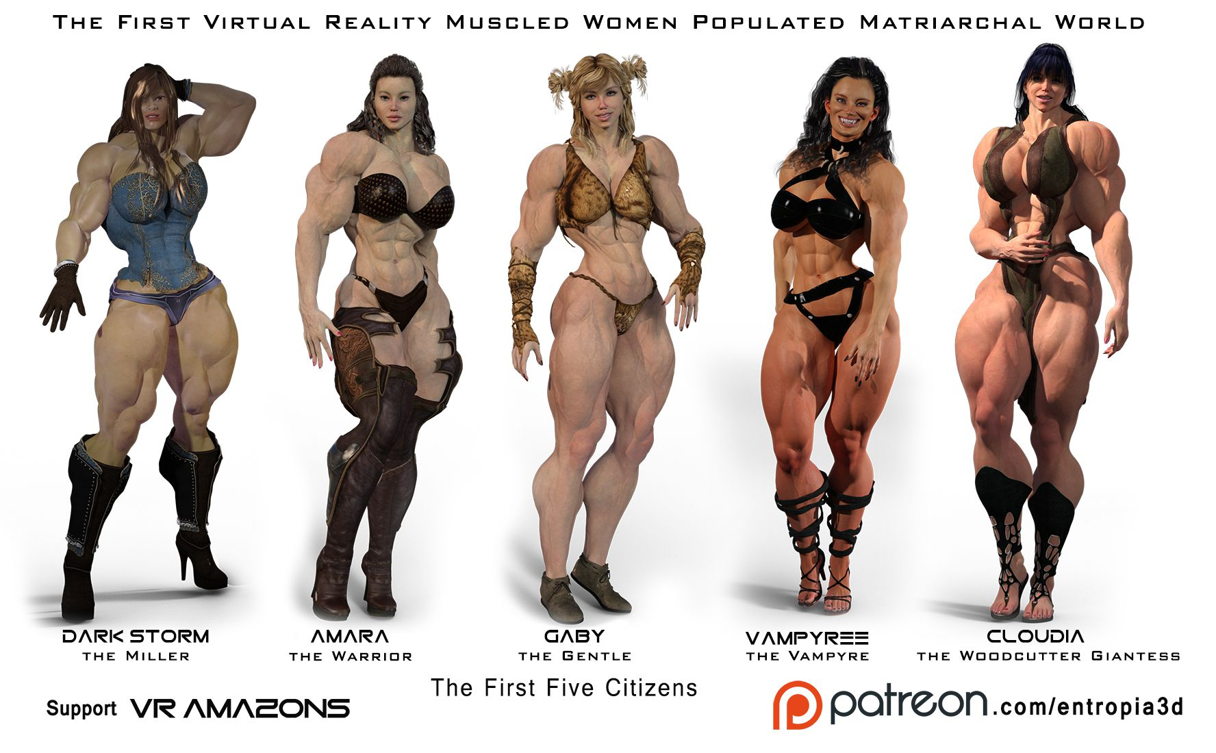 Amazon muscle women in 3d sex video