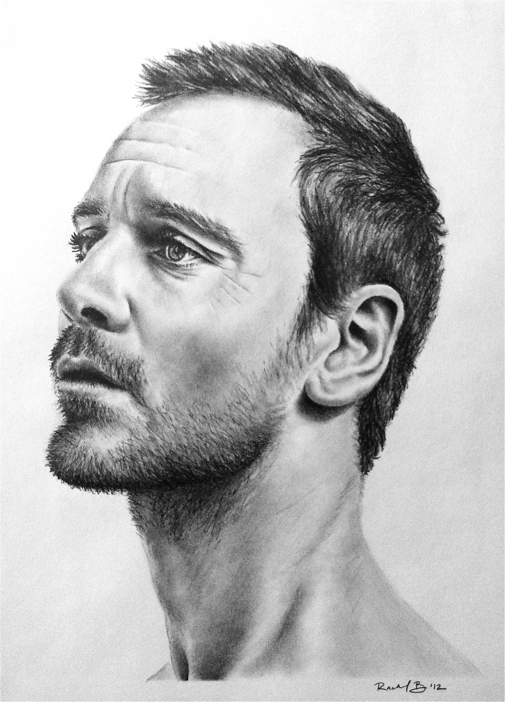 Pencil Drawing of Michael Fassbender by rachbeth