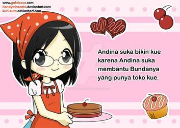 Andina likes to make cakes