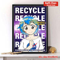 Earth Chan Recycle Motivational Poster