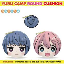 Yuru Camp Round Cushion - ShimaRin, Nadeshiko, Bun
