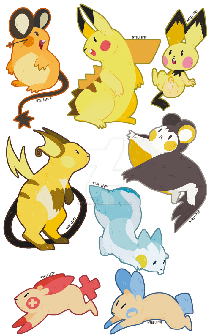 Electric Rodent Stickers by Zombie-Radio on DeviantArt