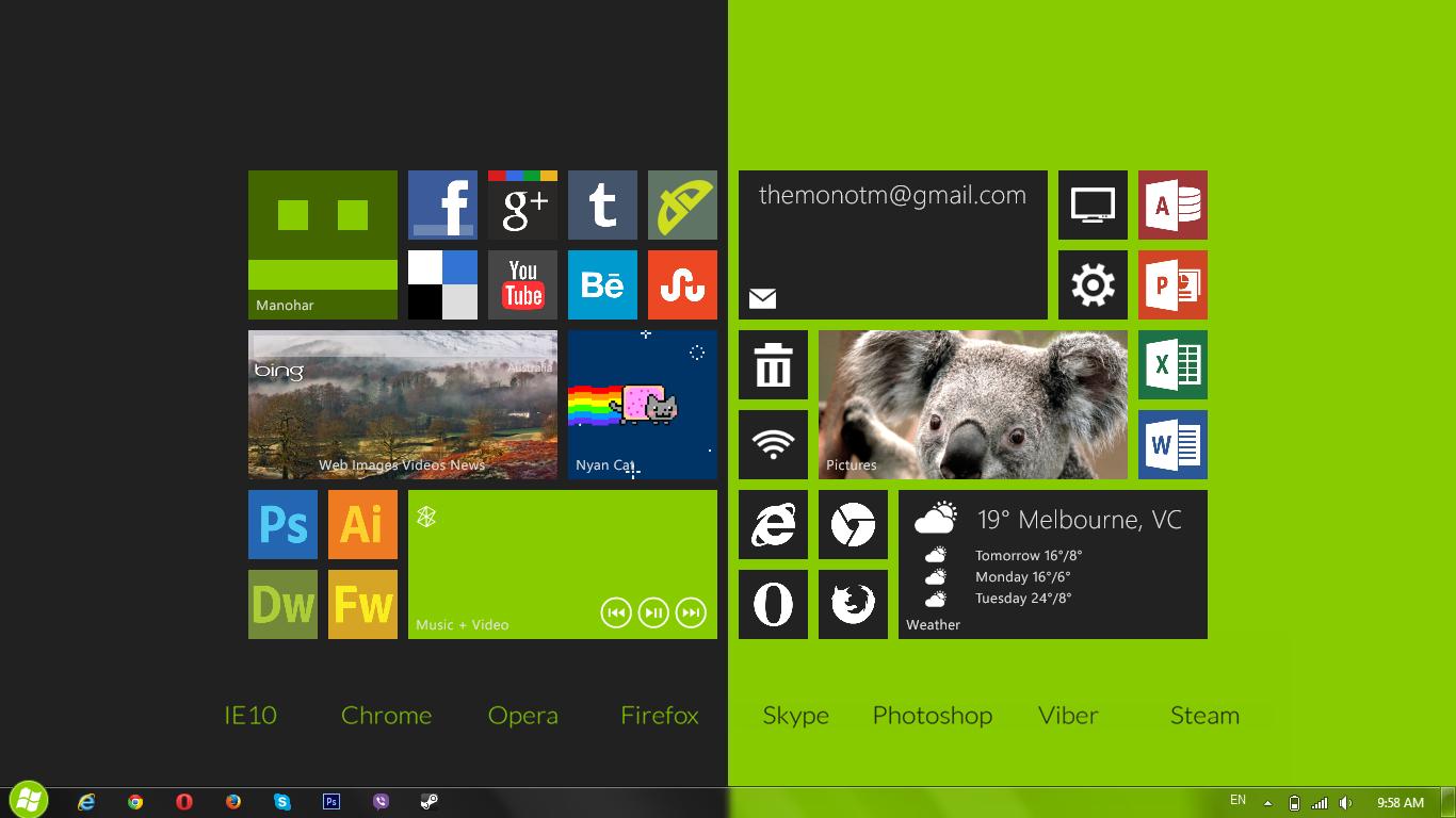 Two-Tone Desktop Screenshot by TheMonoTM