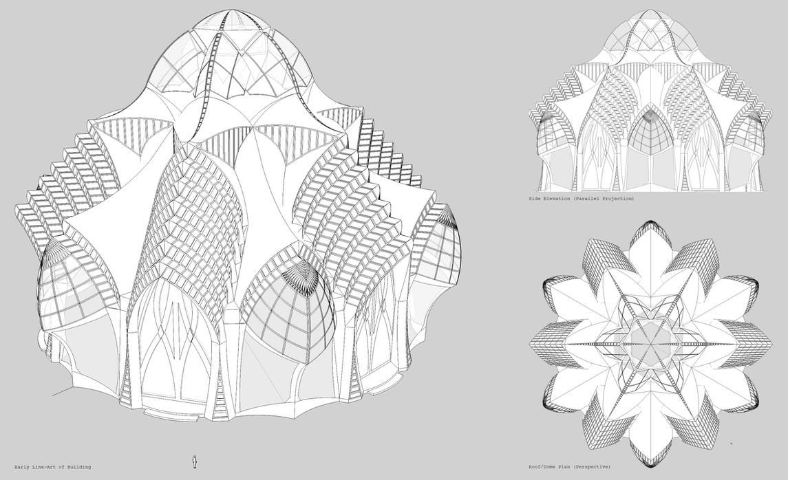 Neo Gothic Fantasy Building