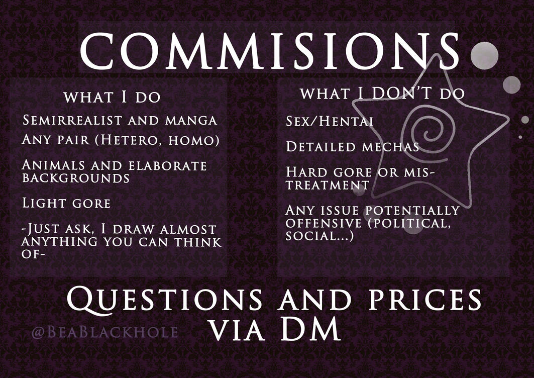COMMISSIONS OPEN by MyPresenceEuphoria