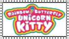 Rainbow Butterfly Unicorn Kitty Stamp