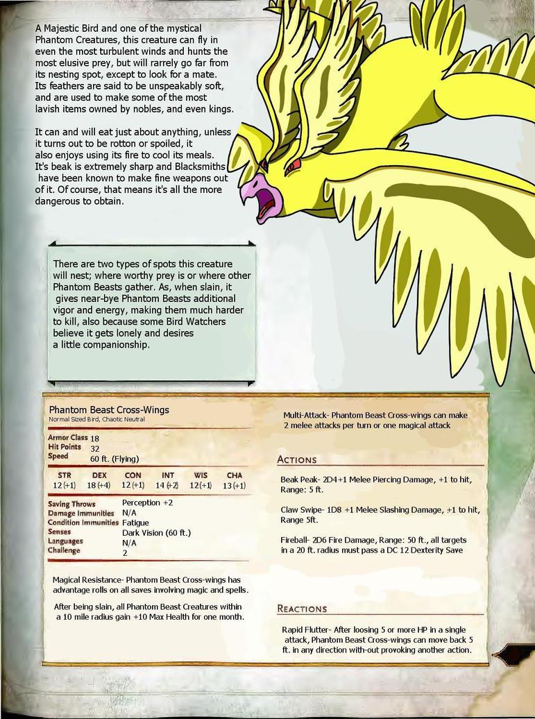 Dn'D Creature: Cross-Wings by Curnott