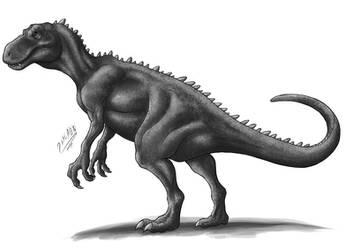 Vintage style dinosaur