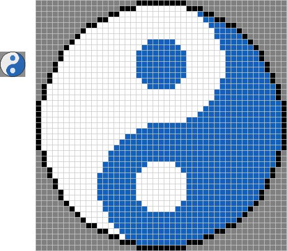 pixel art yin yang