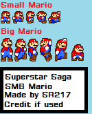 Super Mario Bros. Mario: Superstar Saga Style by SuperRhys217