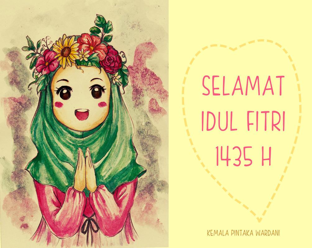 Happy Eid Day 1435 H by kemalamalax3