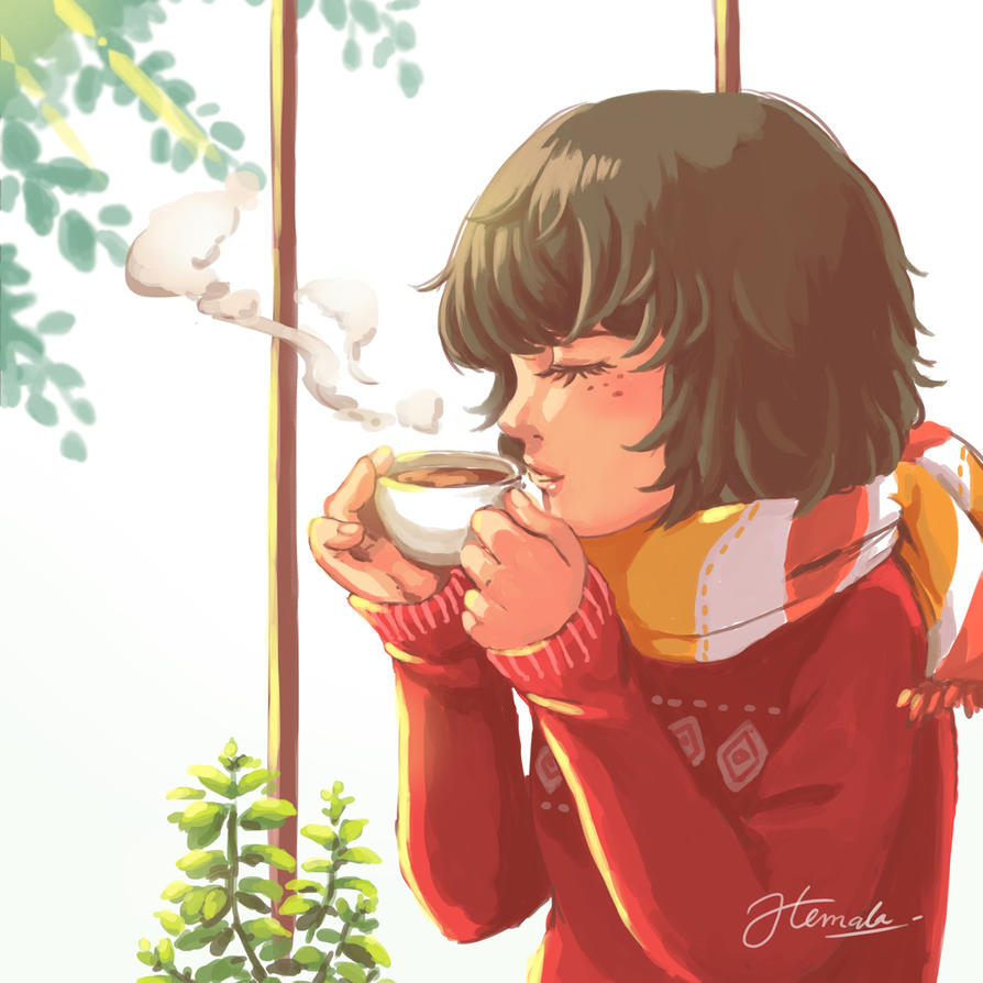A Cup of Coffee by kemalamalax3
