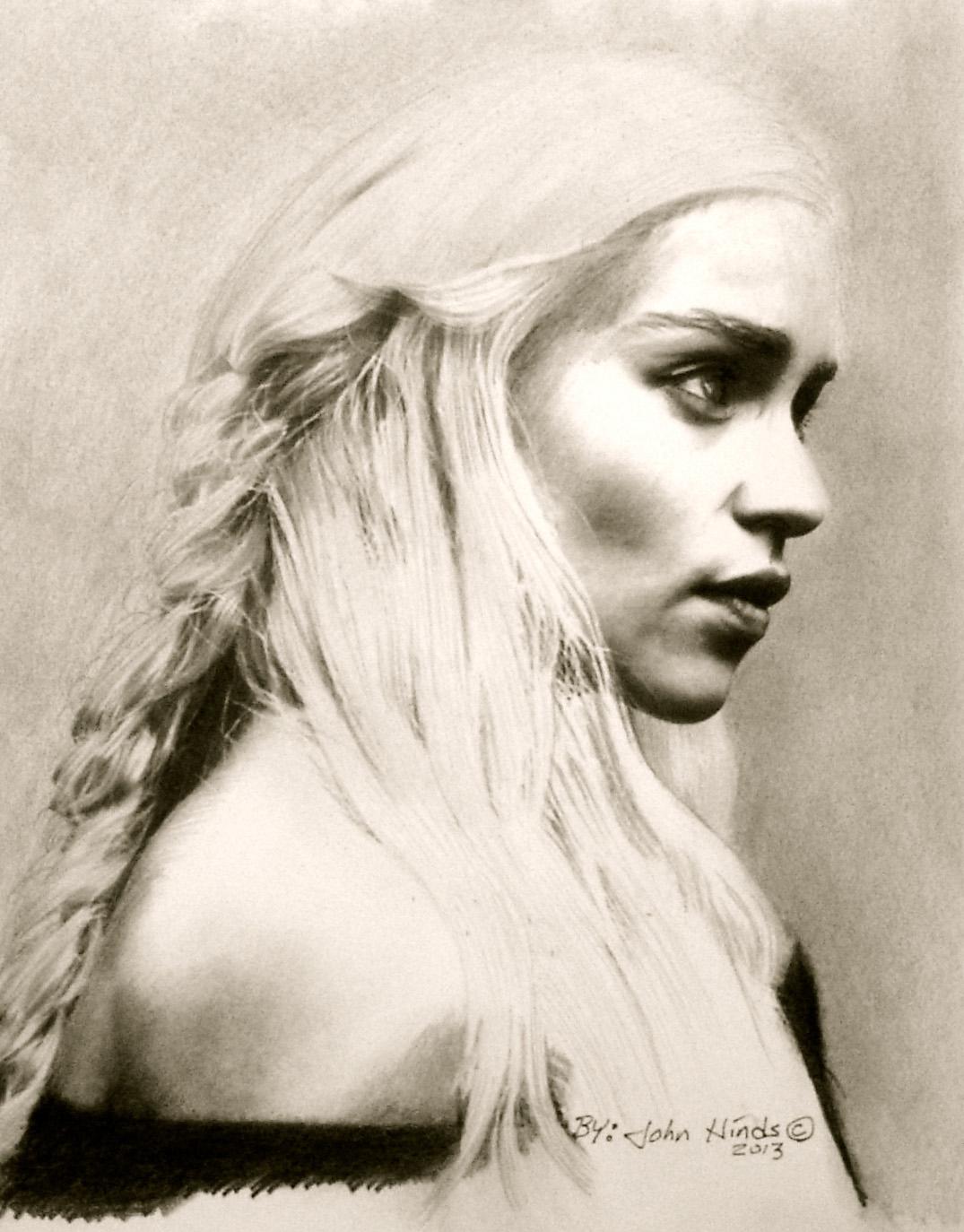 Daenerys Targaryen by TrackerJohn
