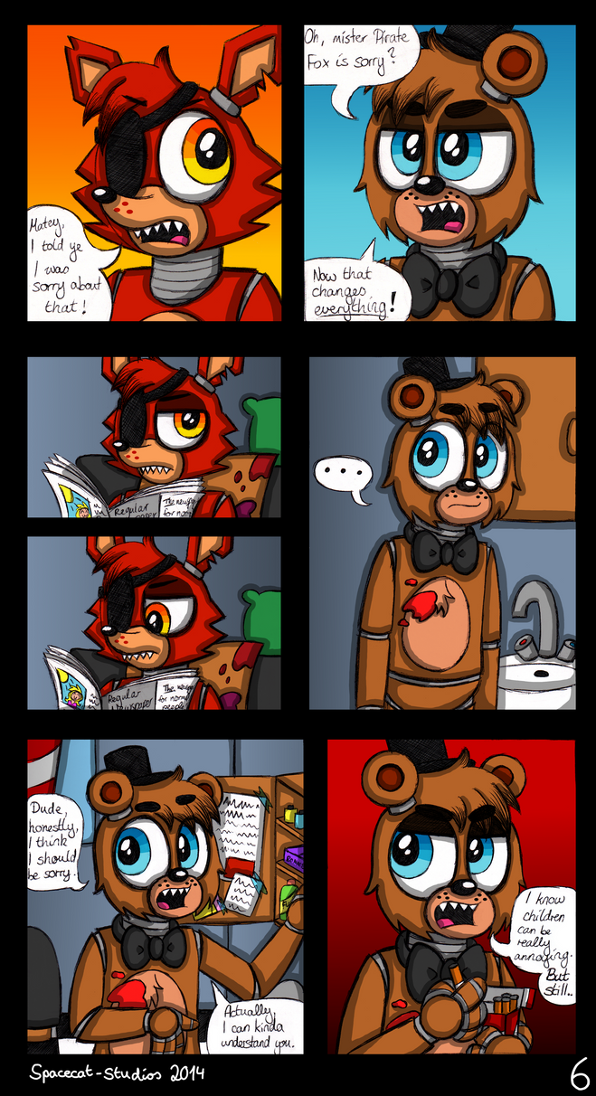Out Of Order - A FNaF Comic - Ch. 1 P. 6 by Spacecat-Studios