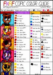 FNAF Copic Color Guide - #1: Original Animatronics