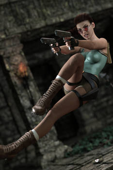 Gina as classic Lara Croft 2