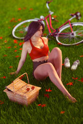 Gina in the grass by FranPHolland