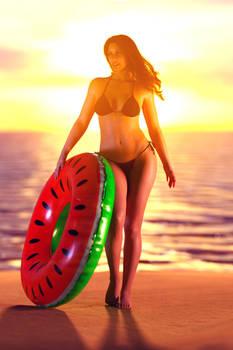 Gina sunset summertime