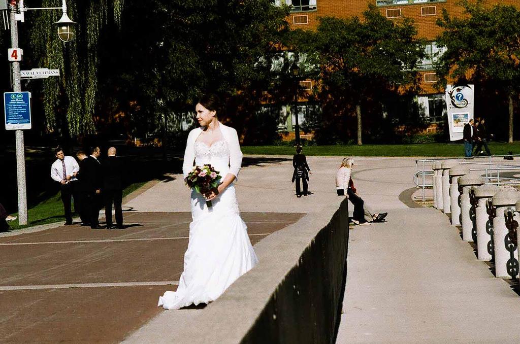 Bride on the Boardwalk by aaroffy