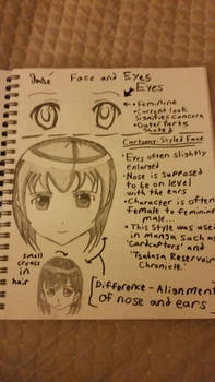 Finding Old Sketches - Faces and Eyes (Female)