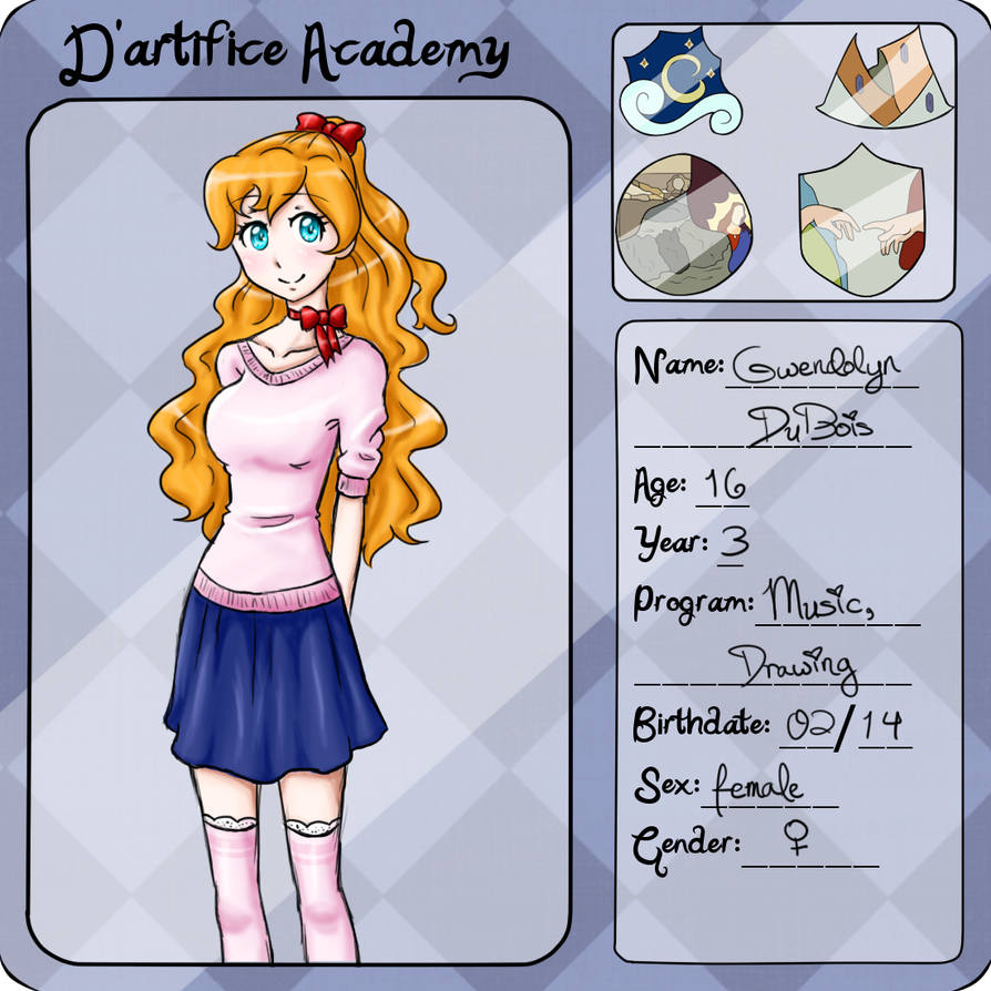 D'Artifice Academy Application by aureliabell