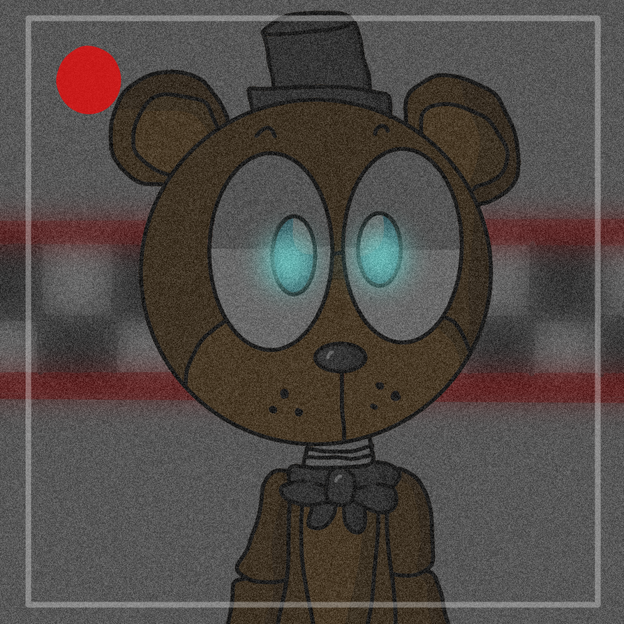 freddy in camera by DuskyMoonX