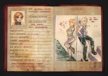 Karta postaci - Viktoria [Rauna-RPG] by amazonitte