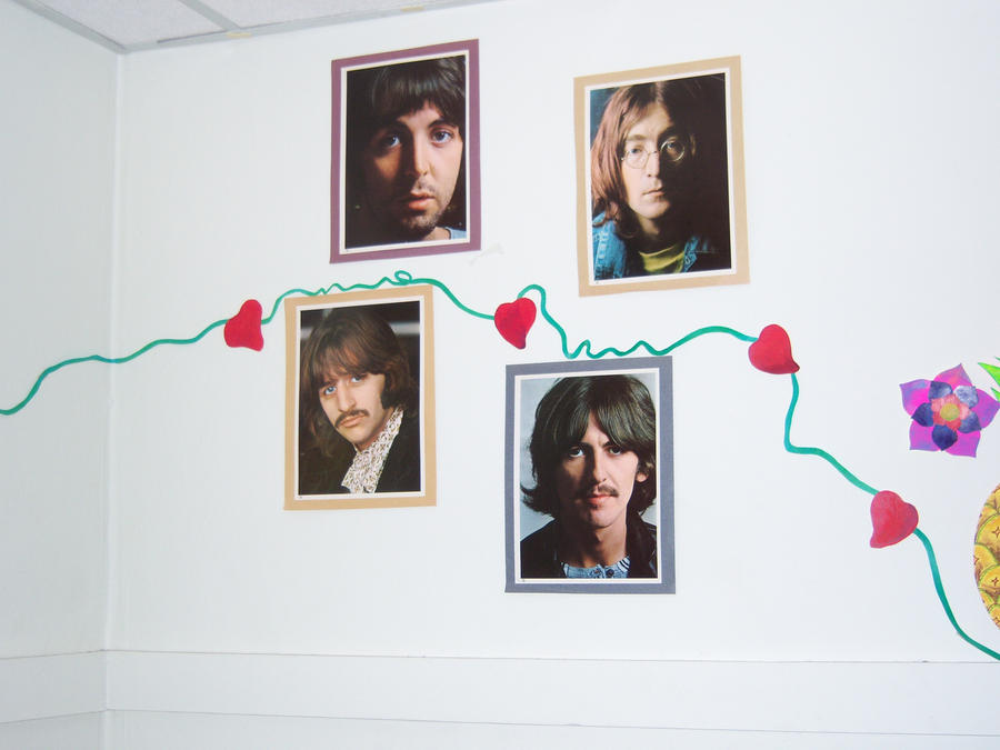 Wall mural i a the beatles by kefiradalila on deviantart for Beatles wall mural