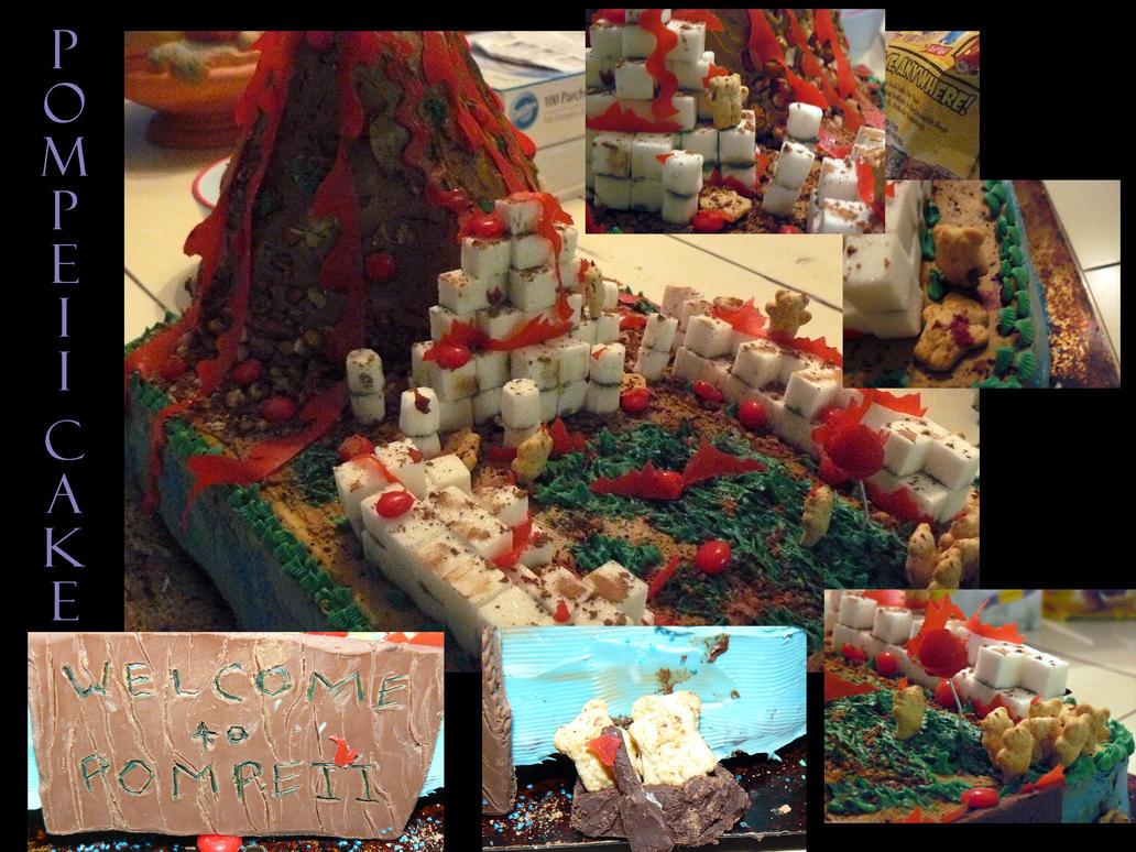 Pompeii Cake by KefiraDalila