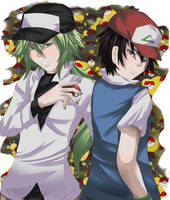 POKEMON: N and Ash by Malevolent-Cat