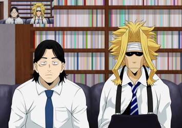Aizawa Shouta x Toshinori Yagi by ChikKV