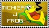 Michigan J. Frog Stamp
